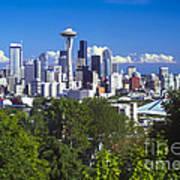 Seattle And Mt. Rainier Art Print
