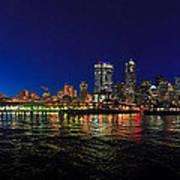 Seattle City Skyline Romance Panorama Art Print