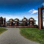 Seattle Gas Light Company Gasification Towers Art Print