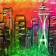 Seattle Land Of Color Art Print by Melisa Meyers