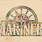 Seattle Mariners Poster Art Art Print