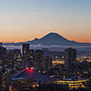 Seattle Morning Glow Art Print