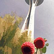 Seattle Needle One Art Print