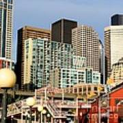 Seattle Skyline. Art Print