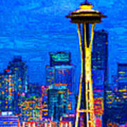 Seattle Space Needle 20130115v1 Art Print