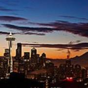 Seattle Sunrise Art Print