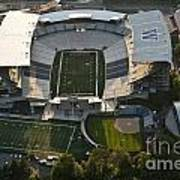Seattle With Aerial View Of The Newly Renovated Husky Stadium Art Print
