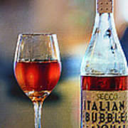 Secco Italian Bubbles Art Print by Bill Tiepelman
