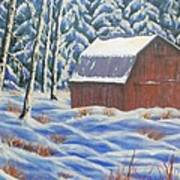 Secluded Barn Art Print