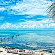 Secluded Beach On Caye Caulker Belize Art Print
