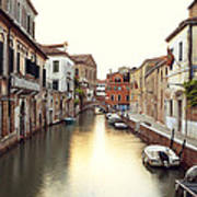 Secluded Canal In Venice Italy Art Print