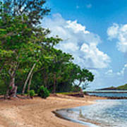 Secret Island Beach Art Print