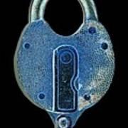 Secure - Lock On Black  Art Print