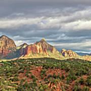 Sedona, Arizona And Red Rocks Panorama Art Print