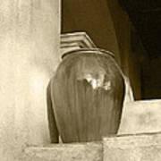 Sedona Series - Jug In Sepia Art Print