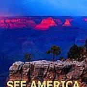 See America - Grand Canyon National Park Art Print