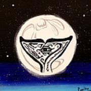 See Creature's Moon Art Print