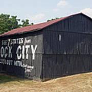 See Rock City Barn Art Print