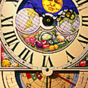 Seed Planting Clock Art Print