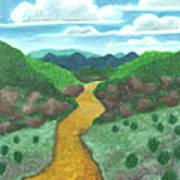 Seeded Waterway Art Print