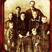 Seei Family Portrait Circa 1906 Art Print