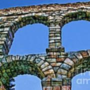 Segovia Aqueducts Blue By Diana Sainz Art Print