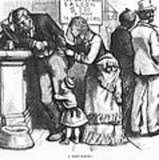 Segregated Saloon, 1875 Art Print