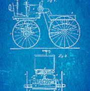 Selden Road Engine Patent Art 1895 Blueprint Art Print