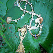 Self-esteem Necklace With Offerings Goddess Pendant Art Print
