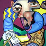 Self Portrait 101 Art Print by Anthony Falbo