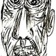 Self-portrait As An Old Man Art Print