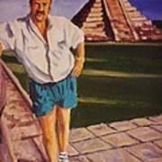Self Portrait At Chichen Itza Art Print