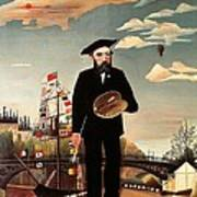 Self Portrait Art Print by Henri Rousseau