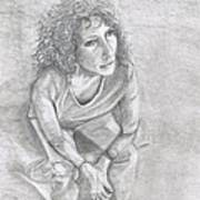 Self Portrait Of Natalie Trujillo Art Print