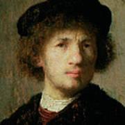 Self Portrait Art Print by Rembrandt Harmenszoon van Rijn