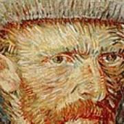 Self-portrait With Hat Art Print