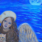 Selina Little Angel Of The Moon Art Print by The Art With A Heart By Charlotte Phillips