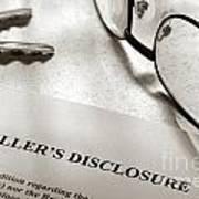 Seller Property Disclosure Art Print