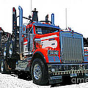 Semi Trucks Catr3120-13 Art Print