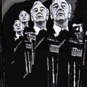 Senator Eugene Mccarthy  Collage Democratic Nat'l Convention Miami Beach Florida 1972-2012  Art Print