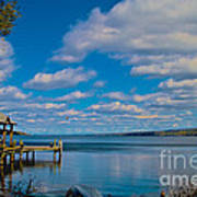 Seneca Lake At Glenora Point Art Print