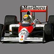 Senna '89 Art Print