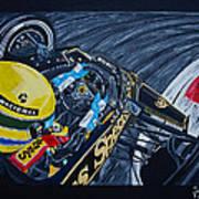 Senna Onboard Art Print