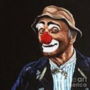 Senor Billy The Hobo Clown Art Print