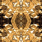 Sepia Bag Fairies 4 Art Print