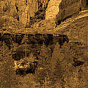 Sepia Red Rock Sedona Art Print