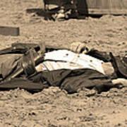 Sepia Rodeo Gunslinger Victim Art Print