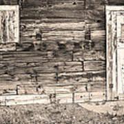 Sepia Rustic Old Colorado Barn Door And Window Art Print by James BO  Insogna