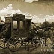 Sepia Stagecoach Art Print
