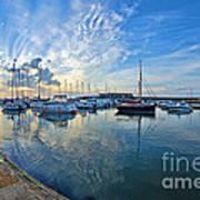 September Morning At Lyme Regis Art Print
